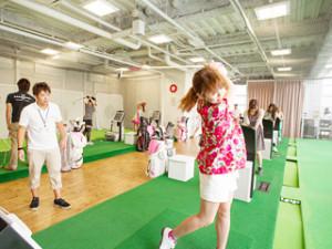 ゴルフ 初心者 レッスン 東京 女性
