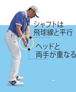 ゴルフ スイング 右脇 開く