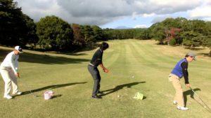 ゴルフレッスン 傾斜