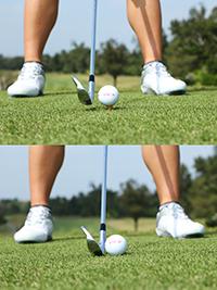 ゴルフ練習 芝