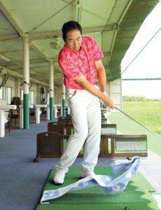 ゴルフ練習 タオル